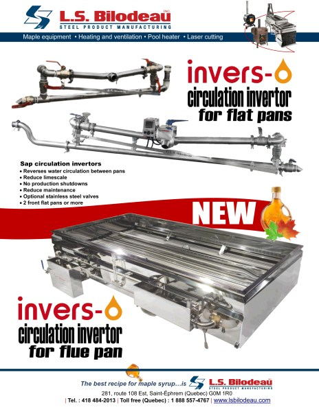 Maple sap flow Invertors Inverso flat flow cross pans evaporator maple sirop equipment sugarbush